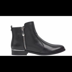 NWT Marc Fisher Leather Boots W/ Silver Details